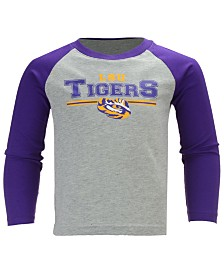 Outerstuff LSU Tigers Field Line Long Sleeve T-Shirt, Little Boys (4-7)
