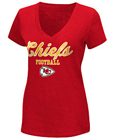 G-III Sports Women's Kansas City Chiefs Playoff Glitter T-Shirt