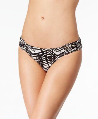 Ikat-Print Macramé Hipster Bikini Bottoms
