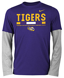 Nike LSU Tigers Legend Long Sleeve Staff T-Shirt, Big Boys (8-20)