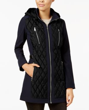 Image of 1 Madison Expedition Hooded Diamond-Quilted Puffer Coat