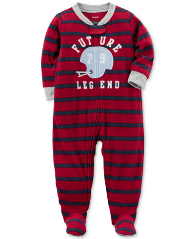 Carter's 1-Pc. Striped Future Legend Footed Pajamas, Baby Boys