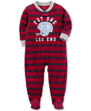 Carters 1Pc Striped Future Legend Footed Pajamas Baby Boys (024 months)