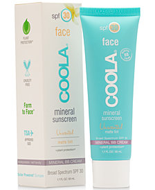 Coola Face Mineral Sunscreen Unscented Matte Tint SPF 30, 1.7-oz.