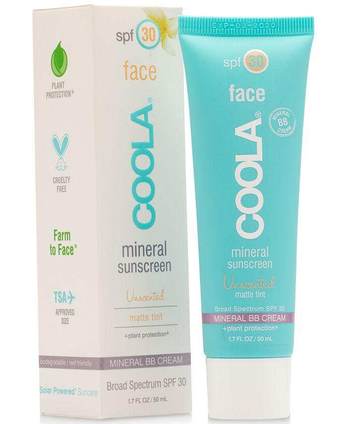 COOLA - Coola Face Mineral Sunscreen Unscented Matte Tint SPF 30, 1.7-oz.