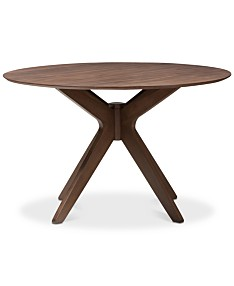 Wood Round Table.Round Dining Table Macy S
