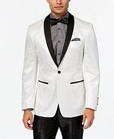 Tallia Orange Men's Slim-Fit White Sparkle Dinner Jacket & Lauren Ralph Lauren Slim-Fit Total Stretch Black Pants