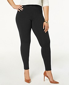Women's  Plus Size Cotton Leggings, Created for Macy's