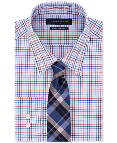 Tommy Hilfiger Men's Check Dress Shirt & Plaid Tie