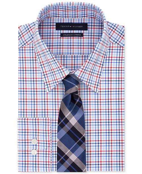 Tommy Hilfiger Men's Check Dress Shirt & Plaid Tie