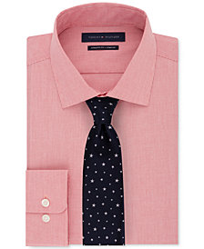 Tommy Hilfiger Men's Performance Stripe Dress Shirt & Star Tie