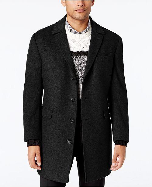 Calvin Klein Men's Minneapolis Wool-Blend  Slim-Fit Overcoat