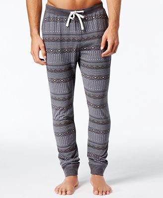 Bar III Men's Fair Isle Cotton Jogger Pajama Pants, Created for ...