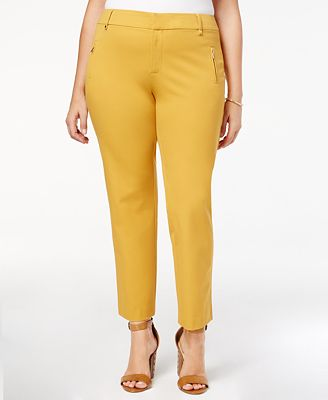 Charter Club Plus Size Zip Pocket Ankle Pants, Created for Macy's