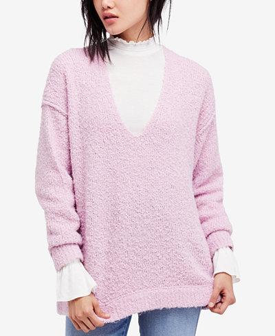 Free People Lofty Bouclé-Knit Sweater