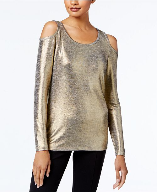 84f4bcbcf68a6 MICHAEL Michael Kors. Petite Cold-Shoulder Top. Be the first to Write a  Review. main image  main image ...