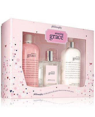philosophy 3 pc jumbo amazing grace gift set gifts value sets