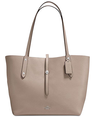 COACH Market Tote in Polished Pebble Leather - Work Bags - Handbags & Accessories - Macy's