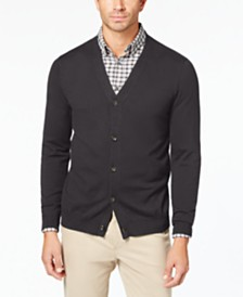 Club Room Men's Knit V-Neck Cardigan