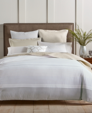 Image of Charter Club Damask Designs Woven Stripe 300-Thread Count 2-Pc. Twin Comforter Set, Created for Macy's Bedding