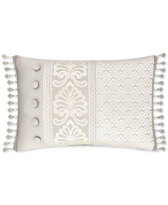 """Le Blanc 22"""" x 15"""" Boudoir Decorative Pillow"""