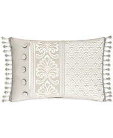 "J Queen New York Le Blanc 22"" x 15"" Boudoir Decorative Pillow"