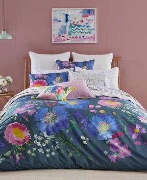 bluebellgray Kippen Cotton 3Pc FullQueen Duvet Cover Set Bedding