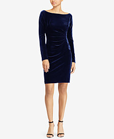 Lauren Ralph Lauren Velvet Sheath Dress
