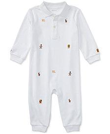 Ralph Lauren Baby Boys Schiffli Polo Coverall