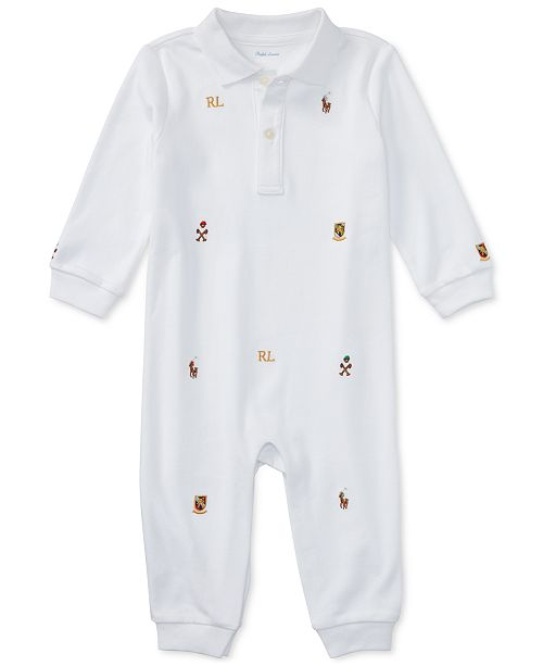 Polo Ralph Lauren Ralph Lauren Baby Boys Schiffli Polo Coverall