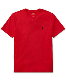 Ralph Lauren Boys' V-Neck Tee, Big Boys