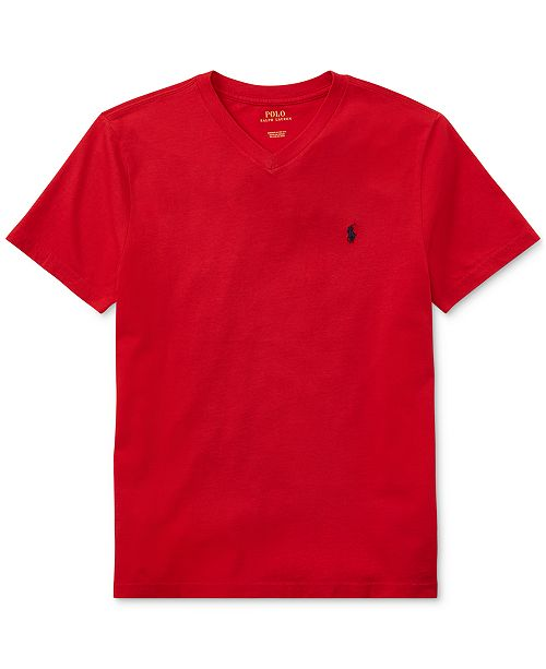 945fdb2ee Polo Ralph Lauren Big Boys V-Neck Tee & Reviews - Shirts & Tees ...