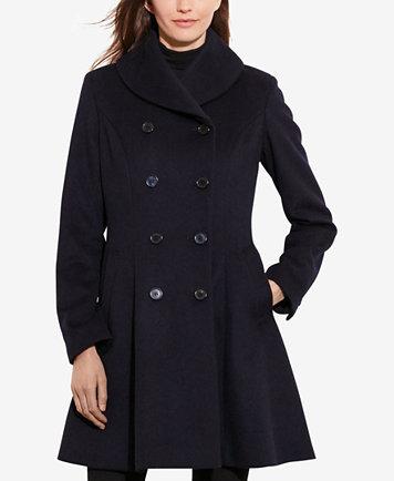 Lauren Ralph Lauren Double Breasted Fit Amp Flare Coat