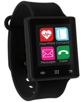Unisex Pulse Black Silicone Strap Smart Watch 41mm, Created for Macy's