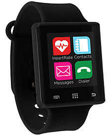iTouch Unisex Pulse Black Silicone Strap Smart Watch 41mm, Created for Macy's