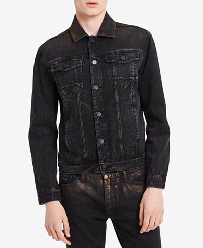Calvin Klein Jeans Men's Distressed Copper Denim Jacket, Created for Macy's