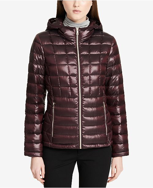 d48db8dd1c7a Calvin Klein Packable Down Puffer Coat, Created for Macy's & Reviews