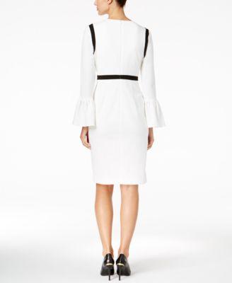 Calvin klein belted colorblock sheath dress