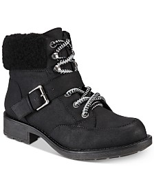 9852e40f0c1 White Mountain Cliffs by Decker Lace-Up Booties