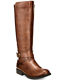 Style & Co Madixe Riding Boots, Created for Macy's