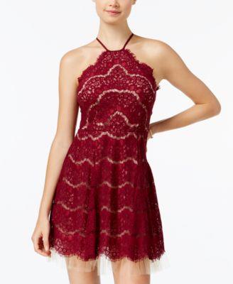 Red Halter Prom Dress Trixxi
