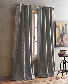 "DKNY Derby Crosshatch 50"" x 84"" Room-Darkening Grommet Pair of Window Panels"