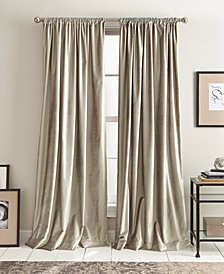 "DKNY Modern Textured Velvet 50"" x 96"" Pole Top Pair of Window Panels"