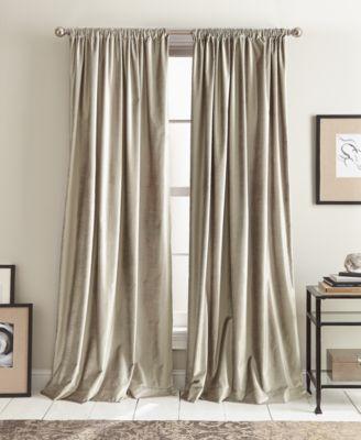 dkny modern textured velvet pole top panel pairs