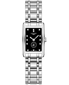 Women's Swiss DolceVita Diamond-Accent Stainless Steel Bracelet Watch 21x32mm