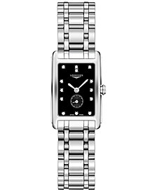Longines Women's Swiss DolceVita Diamond-Accent Stainless Steel Bracelet Watch 21x32mm