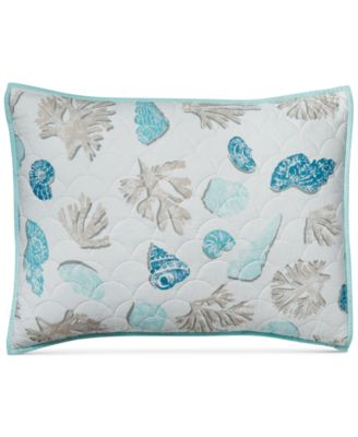 Beach Finds Reversible  100% Cotton Quilted Standard Sham, Created for Macy's