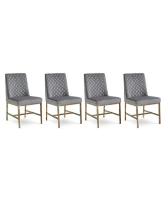 Cambridge Dining Chair 4-Pc. Set (4 Gray Side Chairs)