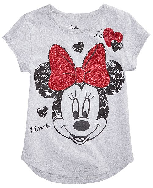 af61592d9db91 Disney Minnie Mouse Glitter Lace T-Shirt