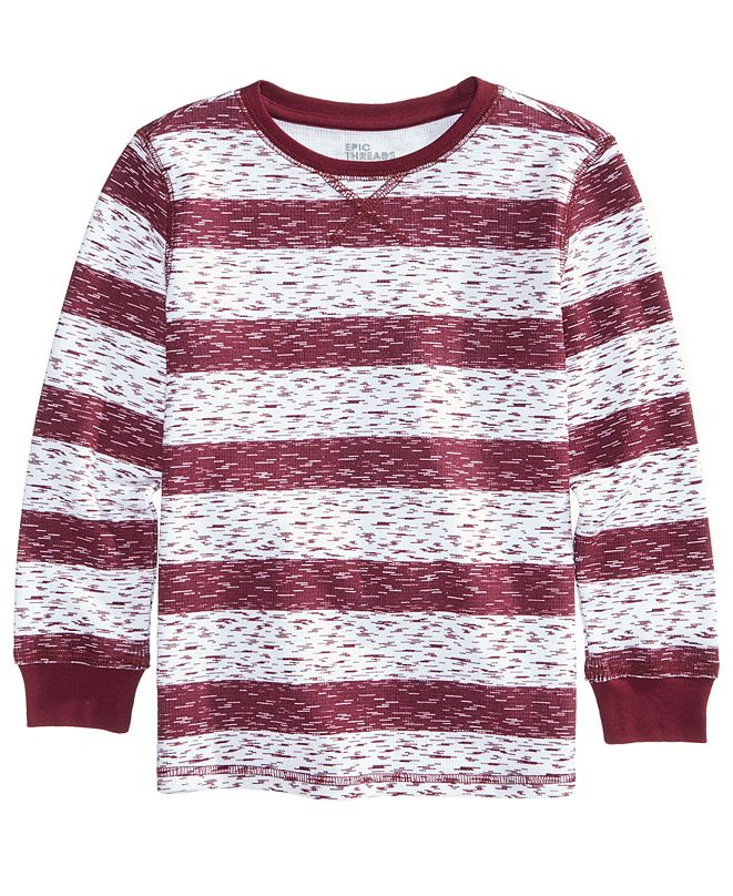 Epic Threads Bedford Striped Shirt, Toddler Boys, Created for Macy's